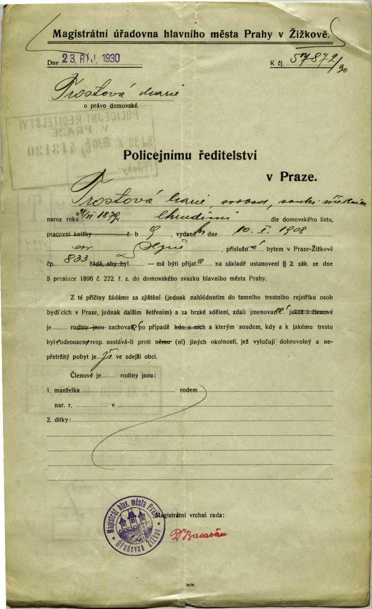 Trostova Marie Setreni O Zachovalosti Databaze Dokumentu Holocaust